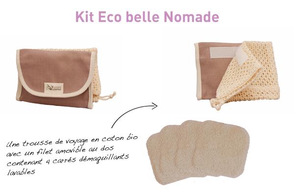 Kit Eco Belle Nomade, le coton lavable dans une trousse de voyage !