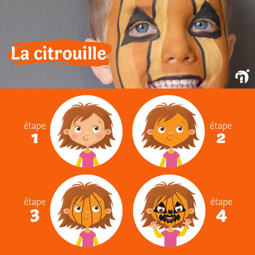 tuto maquillage halloween facile