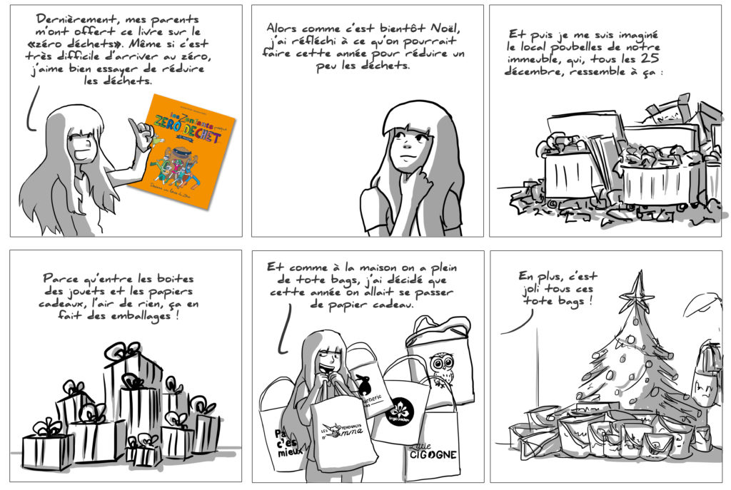 Illustration de Noël, stop papier ! Le calendrier de l'avent zéro déchet !