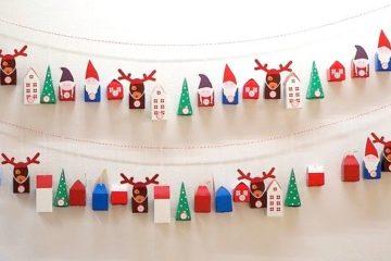 Décorations Noël, le calendrier de l'avent zéro déchet !