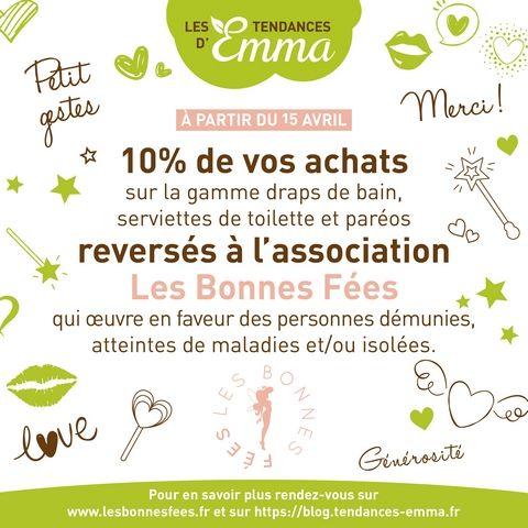 Les Tendances d'Emma s'engagent pour Les Bonnes Fées !