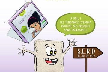 Illustrations zéro déchet : la Semaine Européenne de la Réduction des Déchets : remplacer le coton jetable par des carrés démaquillants lavables !