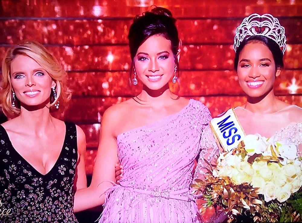 Miss France 2020 est Miss Guadeloupe, Clémence Botino ! Accompagnée de Sylvie Tellier et Vaimalama Chaves à Marseille